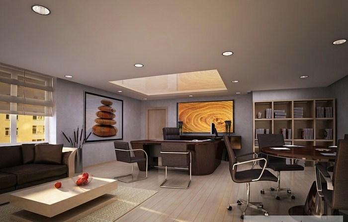 Trang trí nội thất văn phòng cho sếp đón chào xuân mới